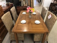 BRAND NEW Condo sized small Solid Wood Teak Table from Indonesia 3748 km