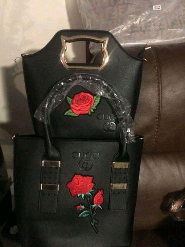 9b3bbb5f4dfb black and red Gucci leather backpack. HomeFashion and Accessories Boynton  Beach