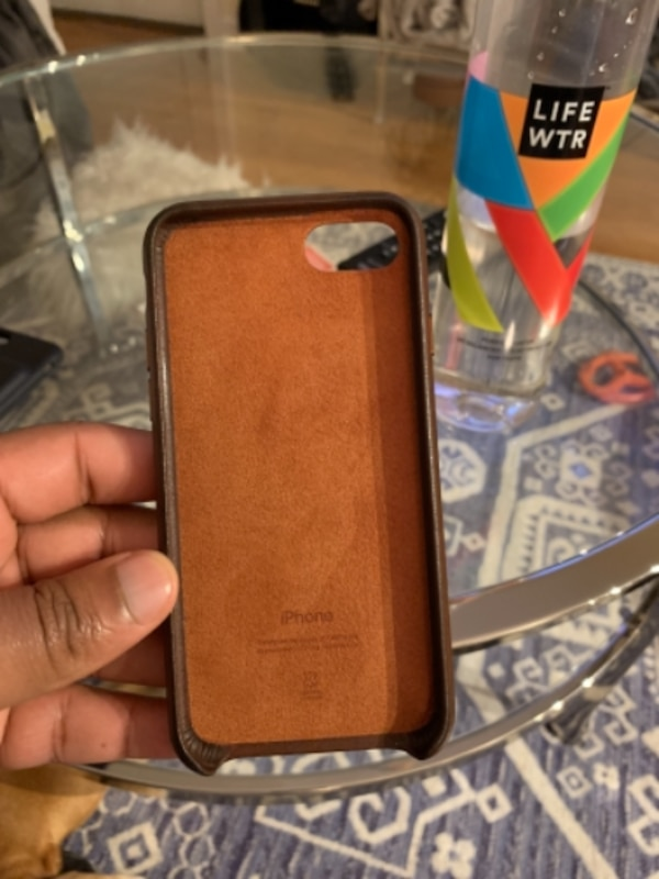 Brown iPhone 7 Leather Apple case