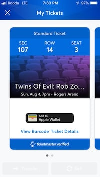 Two tickets to Rob zombie and Marilyn Manson Calgary, T2M 2S8