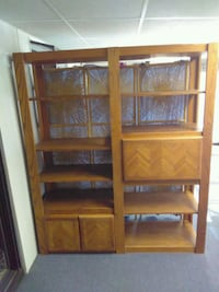brown wooden framed glass display cabinet Lake Elsinore, 92530