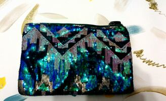 Sequined Tribal Purse - Perfect for the Holidays!