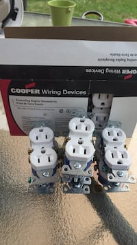 Grounding duplex receptacle . Cooper brands 15a-125v.  I have 17 of them. 50 cents each or take them all for 6 bucks  Brampton, L6Y 1B5