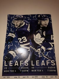 Leafs VS Duck Feb 4 Toronto, M1P 1E8