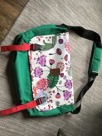 white, green, and pink floral crossbody bag Willowbrook, 60527