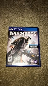 Watch Dogs PS4 game case