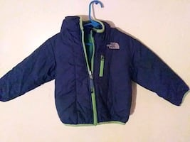 Boys' North Face coat/jacket w/ hoodie;size:newborn-4 or 5 months