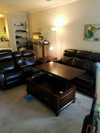 Full wood and leather living room set Houston, 77007