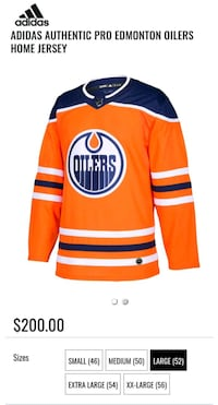 BRAND NEW AUTHENTIC NHL OILERS JERSEY Surrey, V3T 5X5