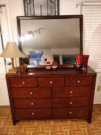 Like new modern big dresser/TV stand with 9 drawers and big mirror in  West Springfield, 22152