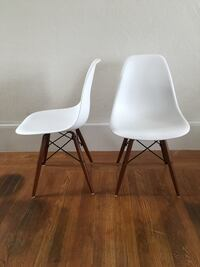 two white-and-gray metal chairs Oakland, 94607
