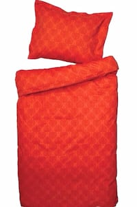 Bedroom - Queen Duvet RED-Orange Cover Set, 100% Cotton Satin, NEW SEALED Mississauga, ON, Canada