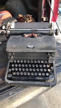 Old royal typewriter