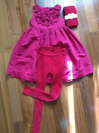 Christmas Lot - babyGap Girl's Red Dress, CK Jacket with 2 Red Tights  Mississauga, L5W