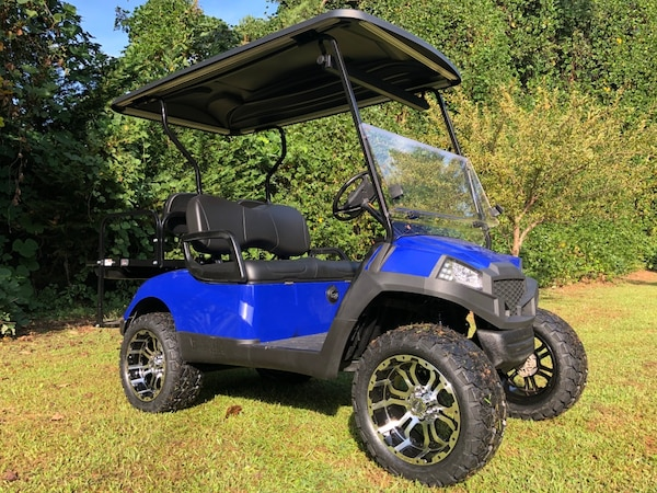 Used Blue 2014 Yamaha Drive G29 48v Golf Cart Revamped to 2018 specs Golf Cart Wheel Specs on golf warehouse carts, trailer specs, golf push carts, golf pull carts, food specs, 2009 club car precedent specs,