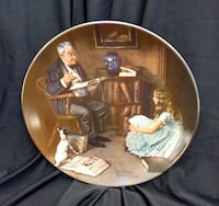 Bradford Exchange, Norman Rockwell, Collector Plate, The Storyteller Hampton