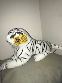 White tiger stuffed animal toy 64 km