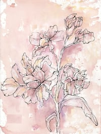 Delphinium Flower Drawing 643 mi