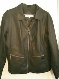 brown leather zip-up jacket Toronto, M1R 1B6