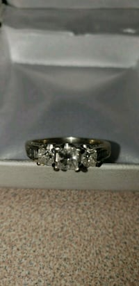Sterling silver 14k engagement ring! London