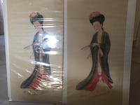Vintage Oriental Japanese silk paintings Magnolia (2) Alexandria, 22312