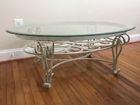 Wrought iron, distressed, Victorian style coffee table Severn, 21144
