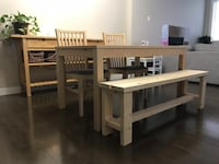 IKEA dining table and chairs Beaumont, T4X 1K3
