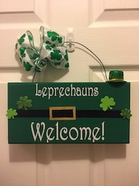 Leprechauns welcome sign board