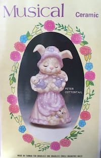 Vintage Easter Musical Bunny in Box Ashland, 01721