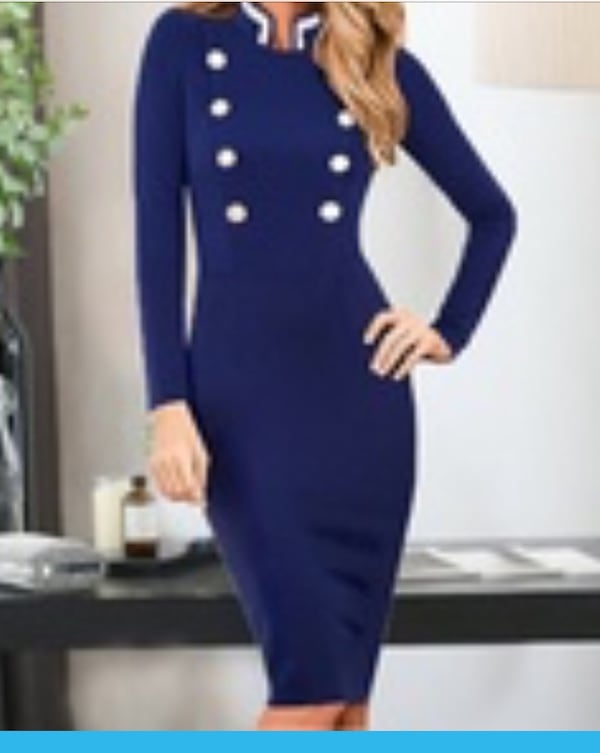 Ladies office dress. Brand new. Size 4-6. Color is royal blue.l eb66a6ed-612a-4204-95ab-3392ed846ccc