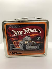 Vintage Hot Wheels Mattel Toy Makers Lunch Box Featuring T-Bucket by Thermos Gardena, 90249