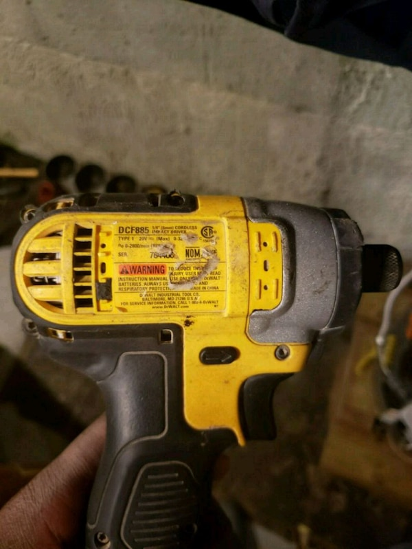 Used Yellow And Black Dewalt Cordless Impact Wrench For In South Amboy Letgo