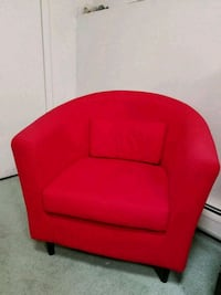 red fabric padded sofa chair Rochelle Park, 07662