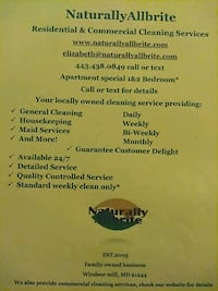residential cleaning serices Pikesville