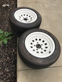 """Outlaw 15"""" rims 5x4.75 with good tires 2 are better than other but all good"""