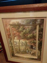 brown wooden framed painting of trees Tempe, 85282