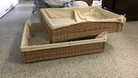 brown wicker basket with white mattress Montréal, H2E 2L1