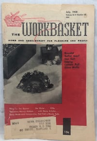 Workbasket Magazine Home Needlecraft Projects Vintage July 1958 Crafts 48pgs Thousand Oaks, 91360