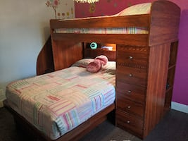 Bunk Bed and Book Case