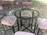 round glass top table with four chairs Arcade, 95825