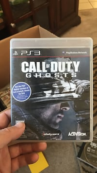 Call of Duty Ghosts PS3 game case