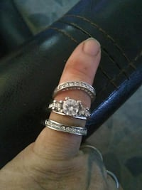 silver and diamond embellished ring Modesto, 95350