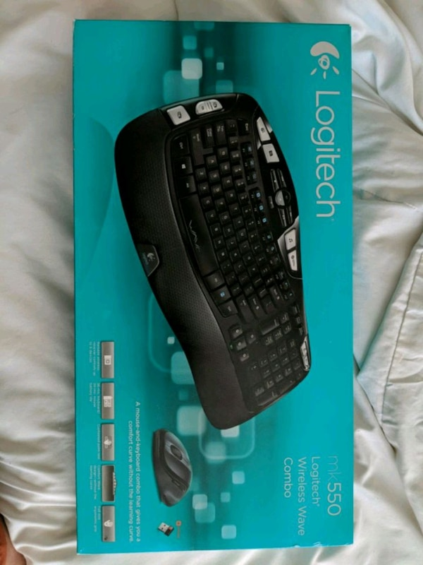 Used black Logitech wireless keyboard and mouse with bo for sale in ...