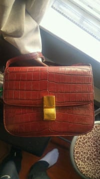 red and black leather bag Richmond, V6Y 3X1