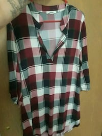 black, white, and red plaid sport shirt Yakima, 98901