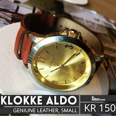 brunt skinn stropp analog aldo watch