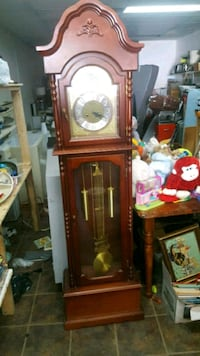 brown wooden framed grandfather clock Montreal, H1K 2X5