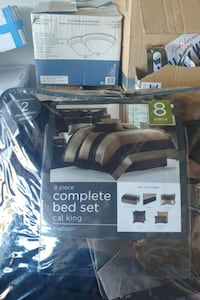 8 pieces Brown &besh bed set almost new Santa Ana, 92701