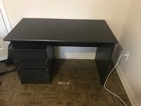 Black wooden desk. NEGOTIABLE  Laval, H7C 0A6