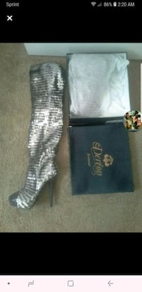 Dereon thigh high sequin boots new EDC  Las Vegas, 89149